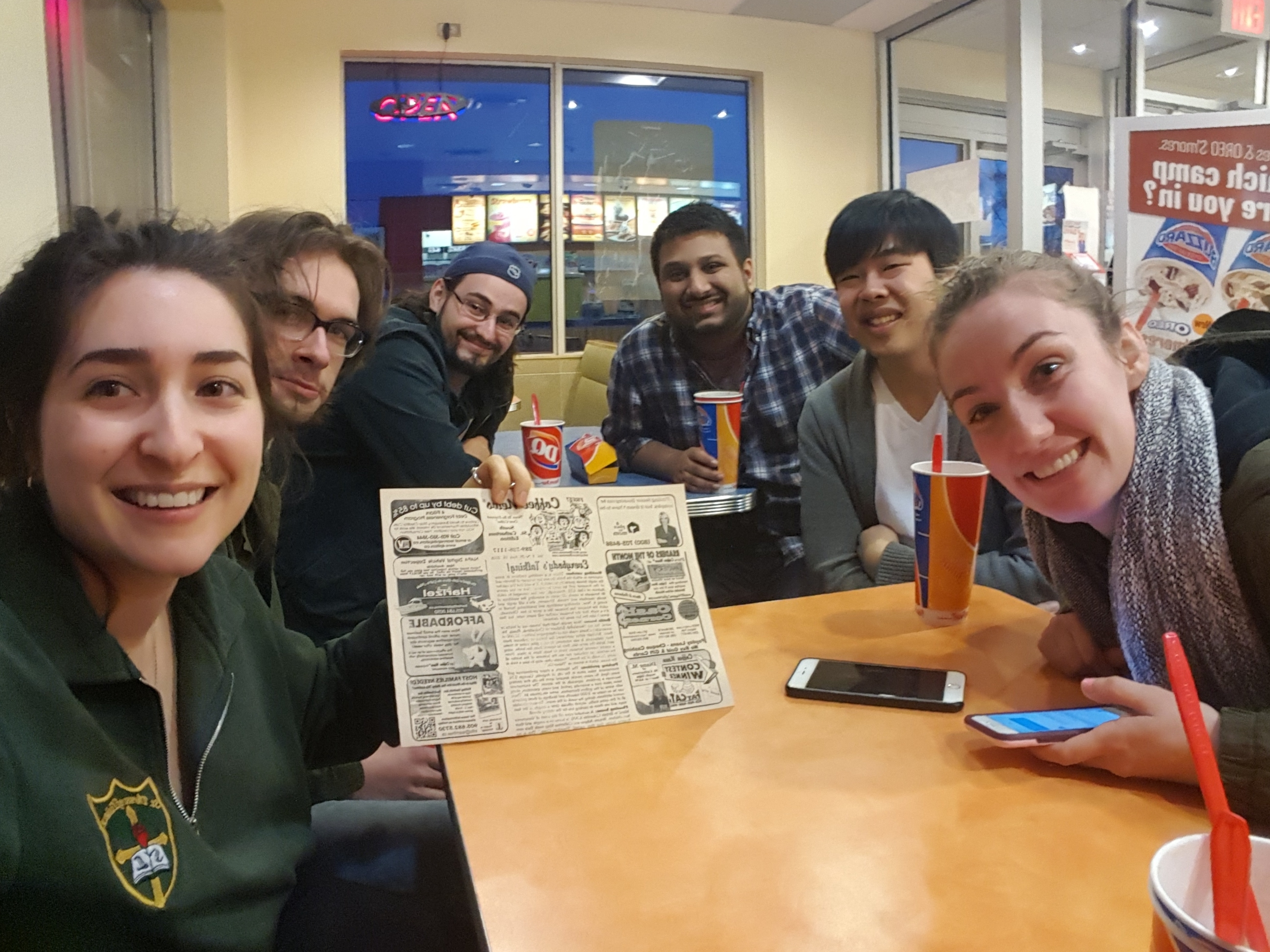 Elyse, Ryan, Farhan, Bryan, Nico and Anita at DQ