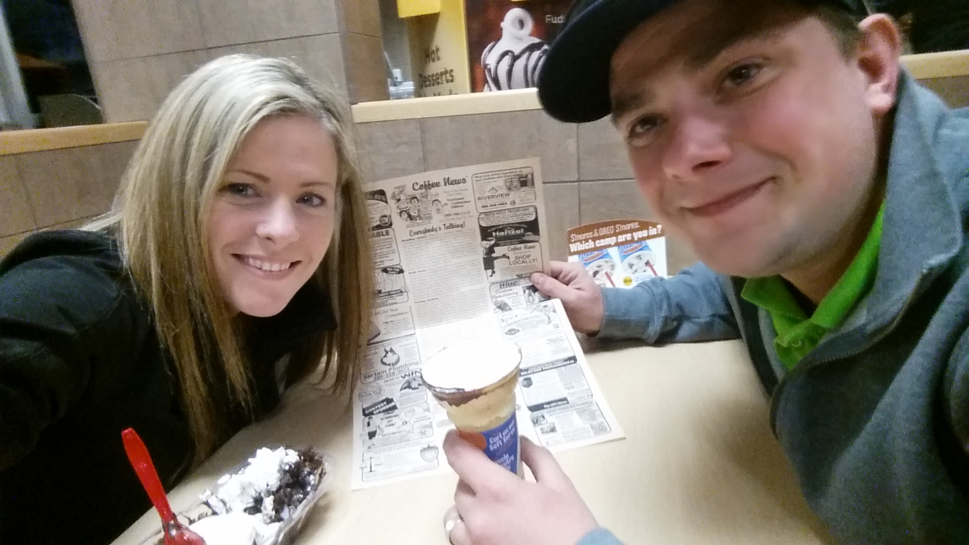 Tracy and Collin at DQ
